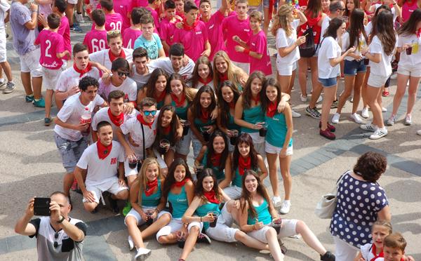 Los jóvenes protagonistas en Aldeanueva de Ebro