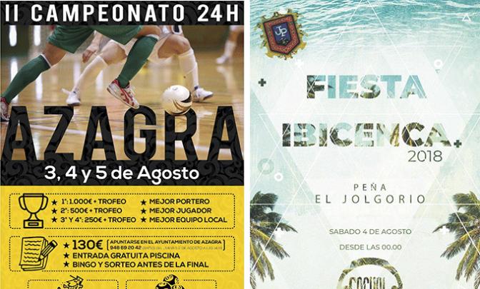 Fiesta Ibicenca y futbol este fin de semana en Azagra