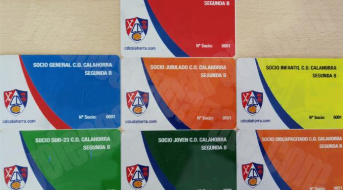 Ya disponibles los nuevos carnets de socio del CD Calahorra