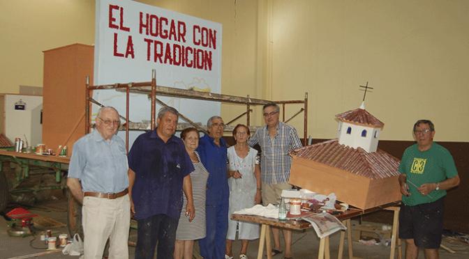 Homenaje a los cordones del Pilar en la carroza del Hogar