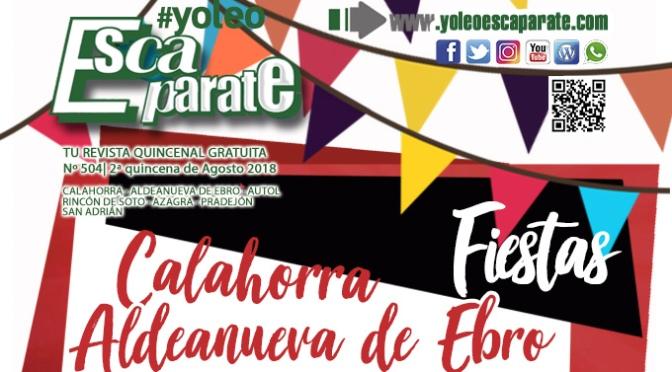 Escaparate 2ª Quincena de Agosto especial fiestas de Aldeanueva y Calahorra