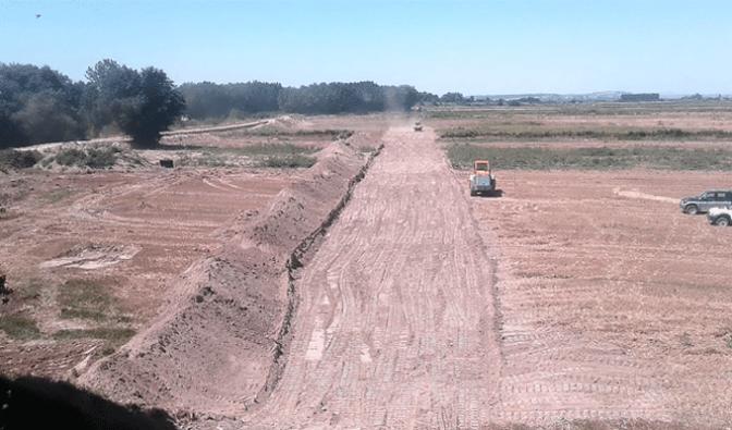 Se inician los trabajos de retranqueo en la mota del Ebro en Alfaro