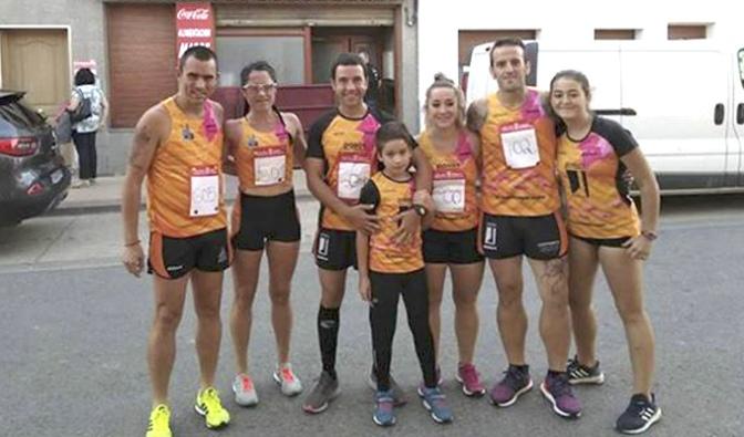 Benji Arias y Delia Ramos vencedores de la III Carrera del Melocotón de Sartaguda