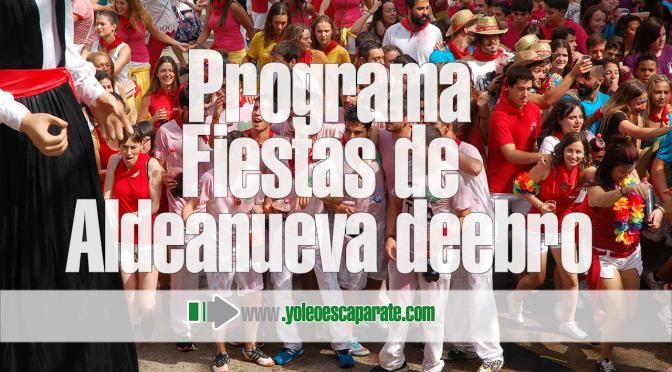 Programa de fiestas de Aldeanueva de Ebro