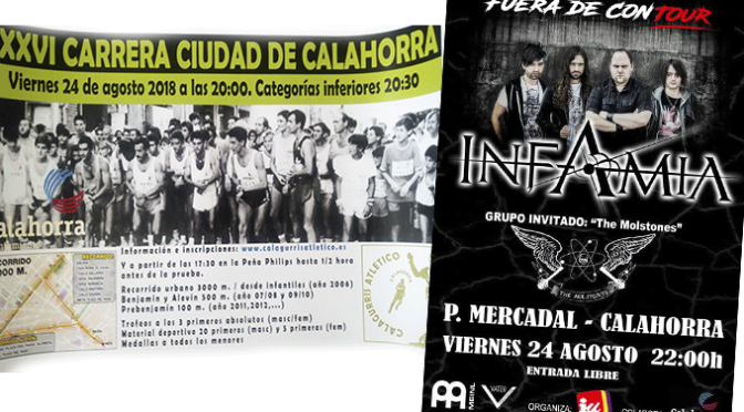 Hoy pre fiestas en Calahorra:Carrera, concierto, más noche menos riesgo…