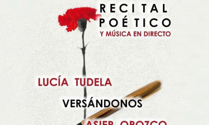 Recital poético y musica en directo el viernes en Pradejón