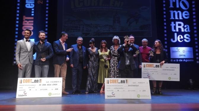 """Premiados enla gala de los premios del XIX Festival de cortometrajes """"¡CORT…en!-Ciudad de Calahorra"""" 2018"""