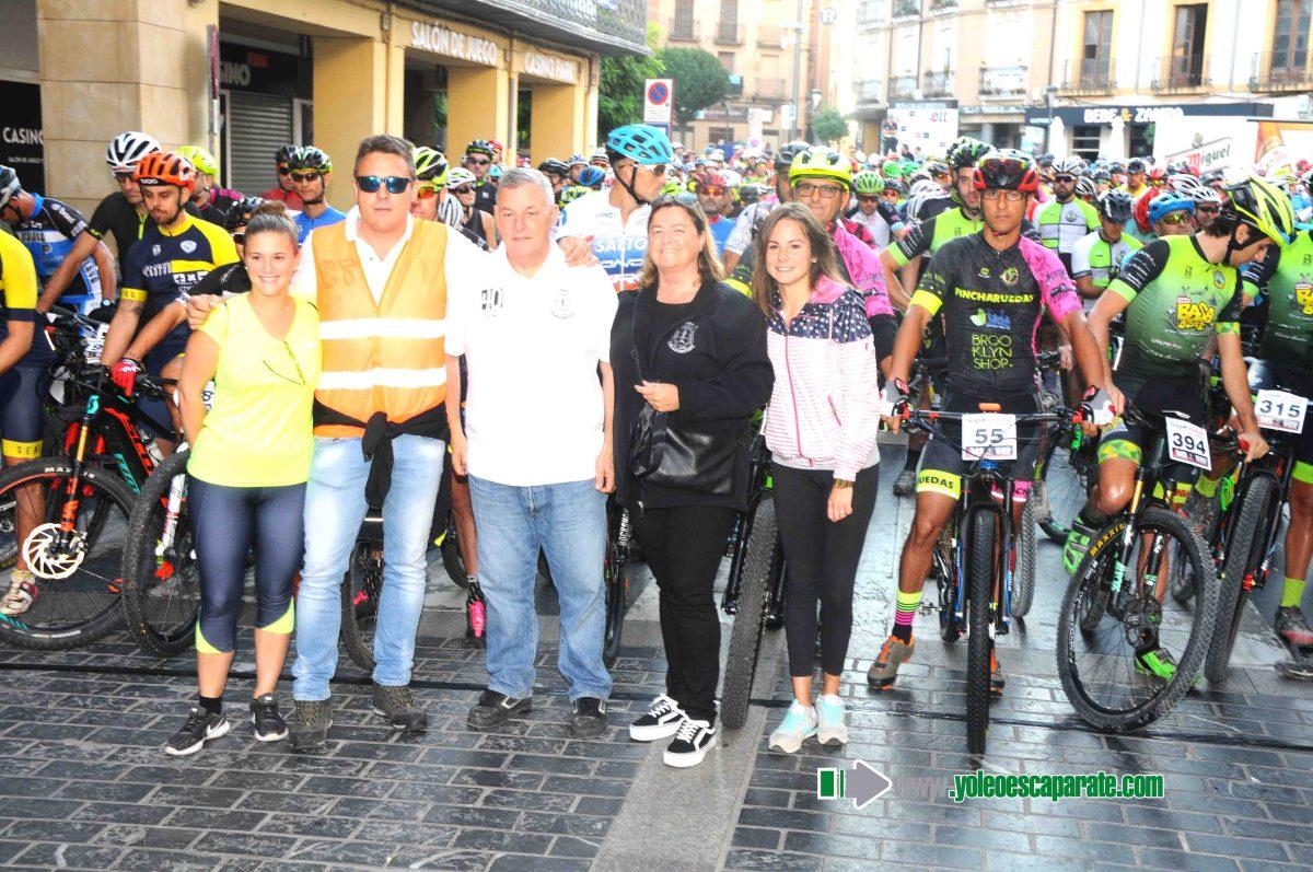 Cerca de 350 ciclistas participaron ayer en la IV BTT de la Peña Calagurritana