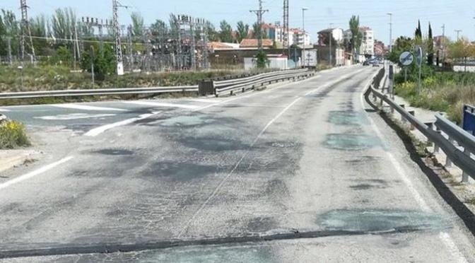 Reparación de los pasos superiores de la carretera LR-134 sobre la N-232 y AP-68 en Calahorra