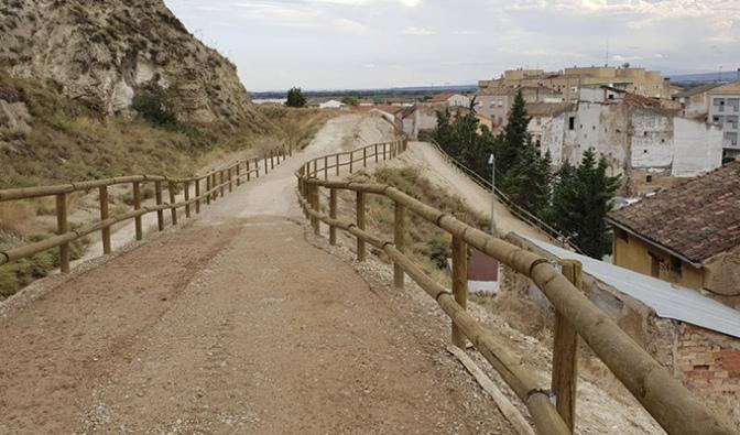 Este sábado visita guiada al nuevo Paseo del Peñon de la Primicia en Azagra