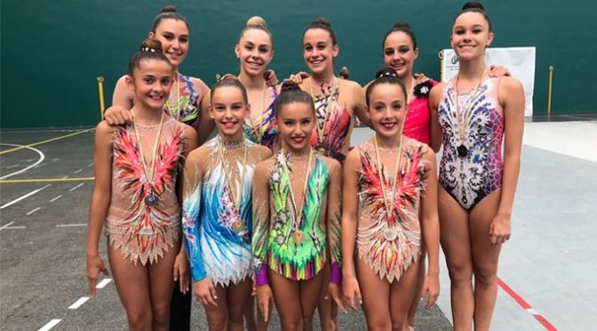 Nueve gimnastas del Club G.R.A.D.A de Calahorra participaran en el campeonato de España Copa Base Individual