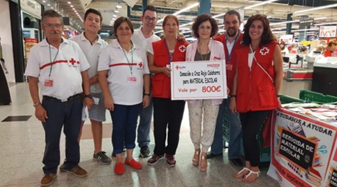 Eroski colabora con Cruz Roja Calahorra en la Campaña Escolar