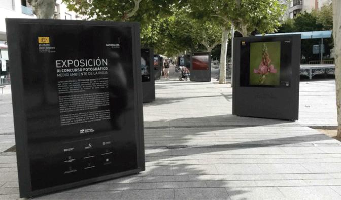 Exposición al aire libre en el Paseo del Mercadal de Calahorra