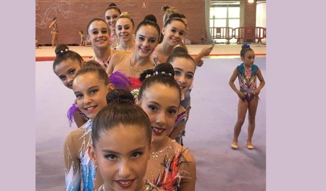 El Club Gimnasia Rítmica A.D. Agustinos de Calahorra obtiene grandes resultados en Pamplona
