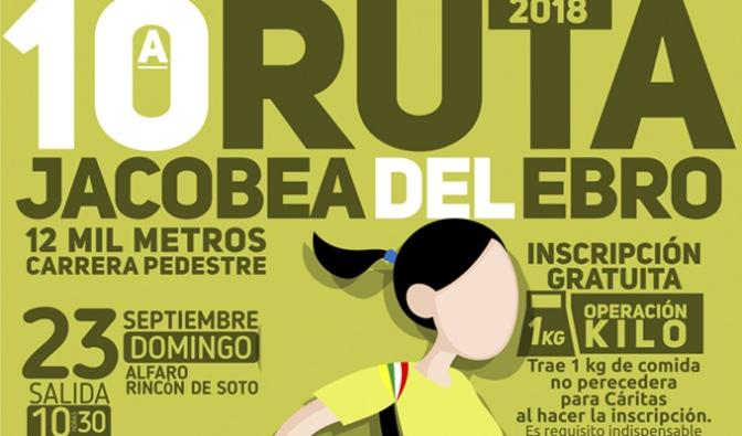 La vuelta de la 10ª Ruta Jacobea del Ebro desde Alfaro a Rincón de Soto