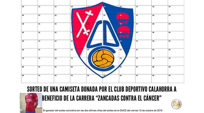 """El CD Calahorra dona de una camiseta a beneficio de """"Zancadas contra el Cáncer"""""""