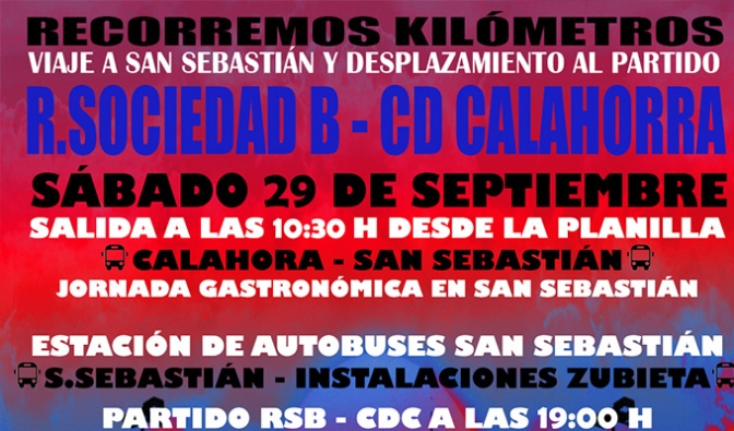 Viaje para disfrutar del partido Real Sociedad B – Cd Calahorra