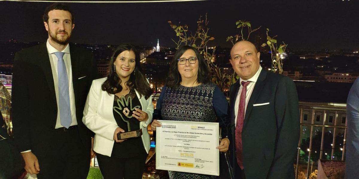 La calagurritana Irene Beisti, recibió el miércoles su reconocimiento