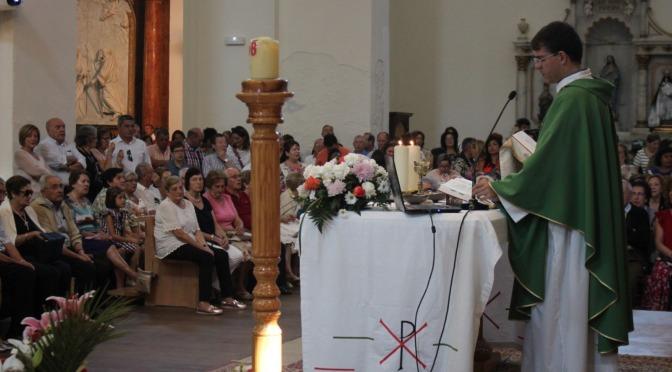 Despedida del párroco Javier Martín en Alfaro