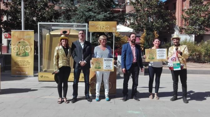 """Autol gana la competición """"El Contenedor de Oro"""" al ser la localidad que más ha mejorado sus cifras de reciclaje de vidrio"""