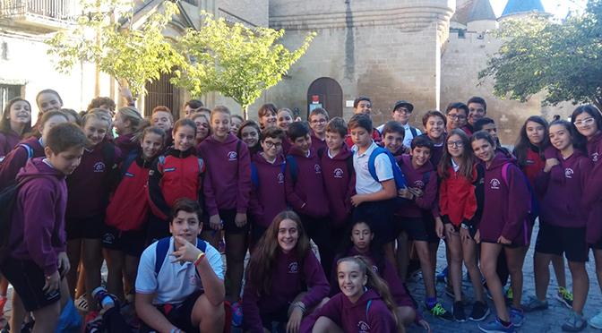 Alumnos de 1º de ESO de Agustinos visitan los castillos de Olite y Javier