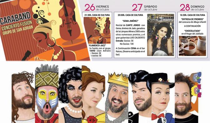 Flamenco Jazz, cante jondo, chocolatada, teatro… este fin de semana en San Adrián