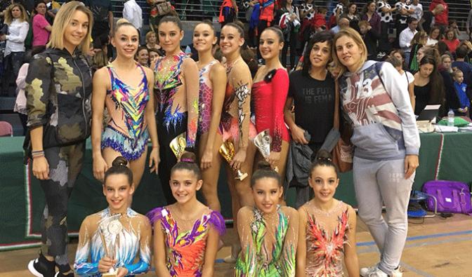 Las gimnastas del Club G.R.A.D. Agustinos de Calahorra no paran de cosechar éxitos