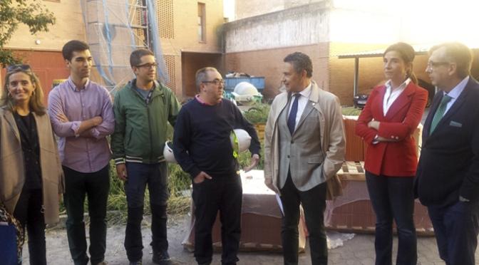 La obra de Rehabilitación de la cubierta de los Juzgados de Calahorra continua según lo previsto