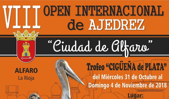 """Éxito de participación en el VIII Open Internacional """"Ciudad de Alfaro"""" Trofeo Cigüeña de Plata"""