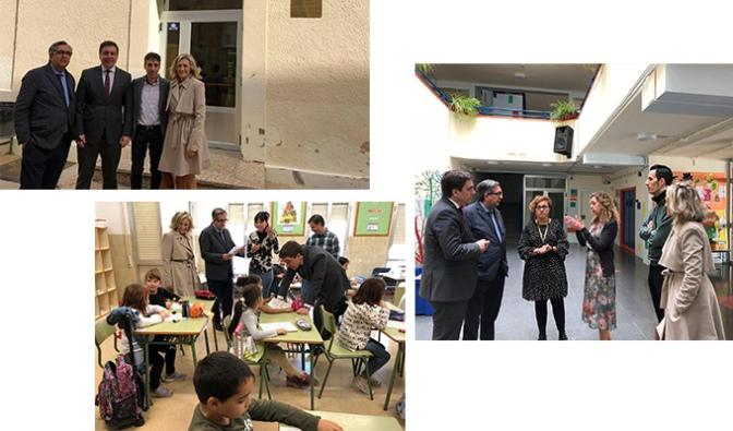 Finalizadas las obras en Los colegios Aurelio Prudencio, Ángel Oliván y Quintiliano de Calahorra