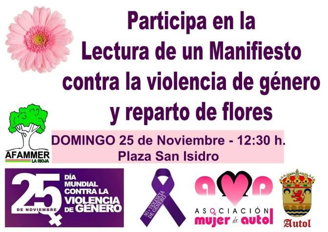 Manifiesto en Autol contra la violencia de género