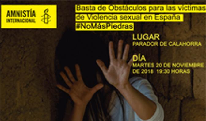La campaña #Nomáspiedras llega a Calahorra de la mano del Grupo de Acción de Amnistía Internacional