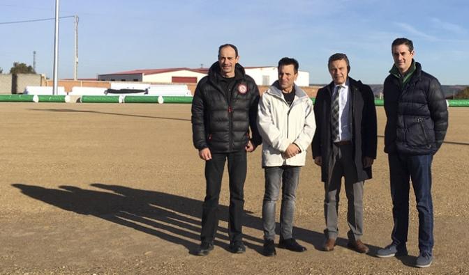 Aldeanueva de Ebrocontará con un  un campo de fútbol de césped artificial