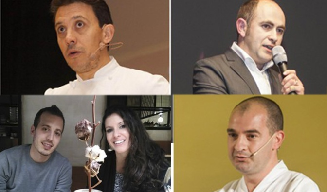 Francis Paniego, Ignacio Echapresto, Félix Jiménez, Carolina Sánchez e Iñaki Murúa, estrellas Michelín riojanas