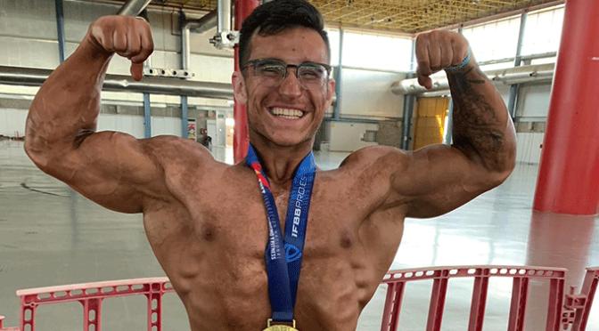 El calagurritano Héctor Antoñanzas se proclama campeón de culturismo junior de España