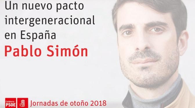 Pablo Simón ofrecerá una conferencia dentro de las Jornadas de otoño de la Agrupación Socialista de Calahorra