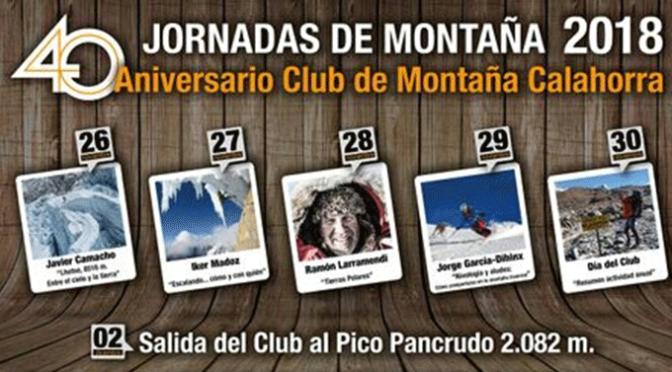 Esta semana se celebras las Jornadas de Montaña 2018