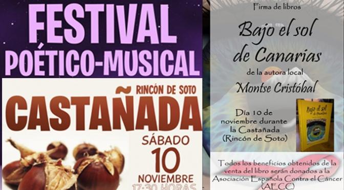 Castañada, poesía, presentacion de libro, sábado completo en Rincón de Soto