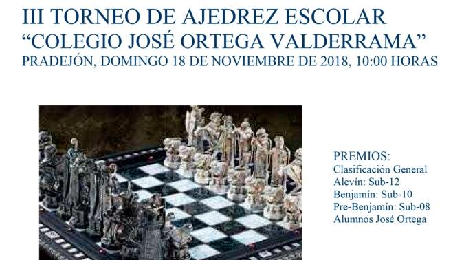 III Torneo de ajedrez escolar en el Colegio José Ortega Valderrama
