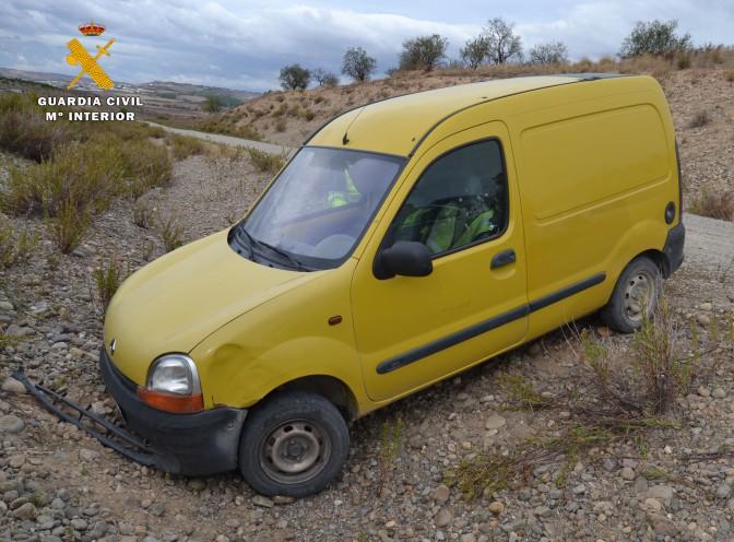 La Guardia Civil detiene a un conductor drogado que protagonizó una huida temeraria con accidente de tráfico incluído