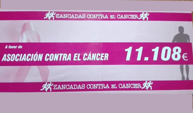 """Más de 10.000 € recaudados gracias al reto """"Zancadas contra el cáncer"""""""