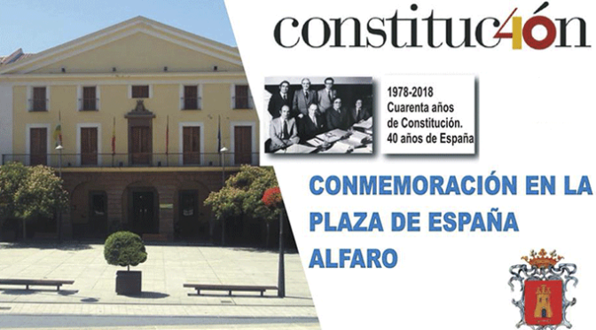 Acto conmemorativo 40 Aniversario Constitución Española  en Alfaro