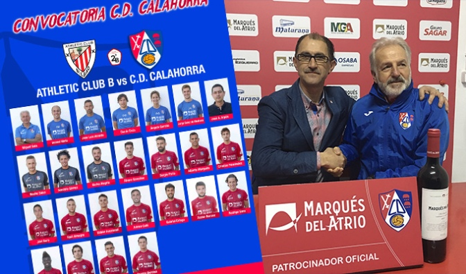 Convocatoria del CD Calahorra para el partido de mañana