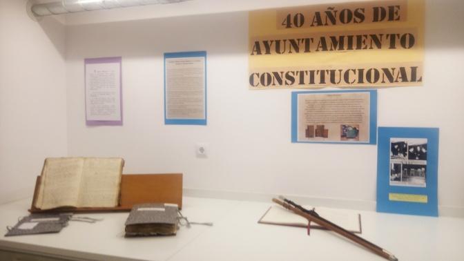 """Ya puede visitarse la exposición """"40 años de Ayuntamiento constitucional"""""""