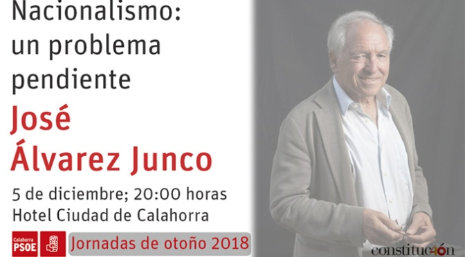 """José Álvarez Junco ofrecerá la conferencia: """"Nacionalismo: un problema pendiente"""""""