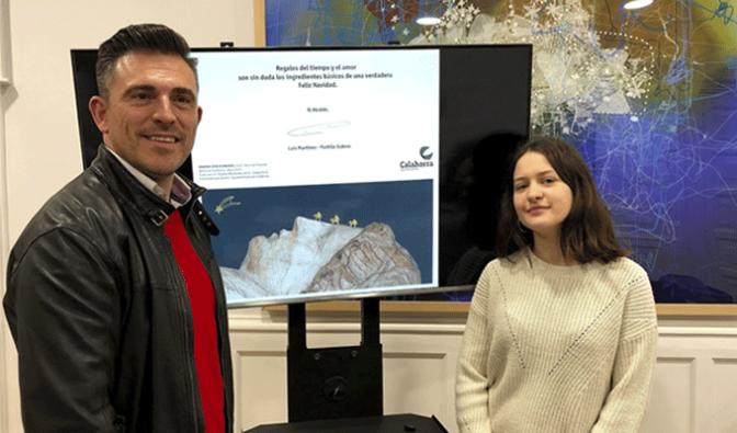 Marina Sota ha resultado la ganadora del concurso de tarjetas navideñas del Ayuntamiento de Calahorra