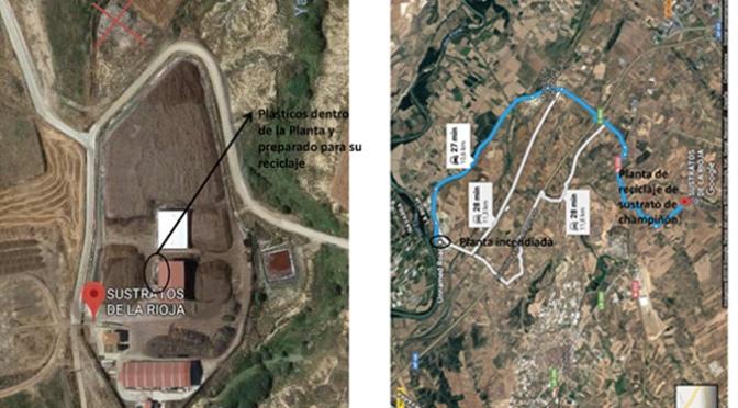 ASOCHAMP aclara que el incendio ocurrido en Pradejón, no es la planta de reciclaje de sustrato de champiñón