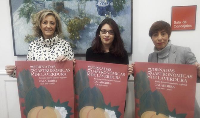 Evelyn Martínez, de la Escuela de arte de Corella nos presenta el cartel de las XXIII Jornadas gastronómicas de la verdura