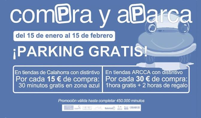 """Del 15 de enero al 15 de febrero """"Compra y aparca"""" gratis en el centro de Calahorra"""
