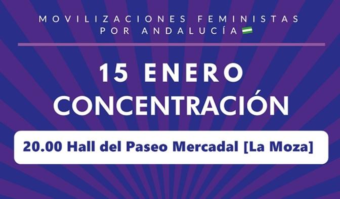 Concentracion para esta tarde desde Café Feminista de Calahorra